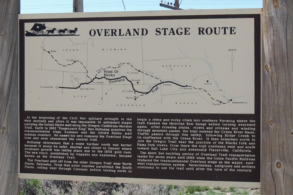 Day 5 - 13 overland trail sign